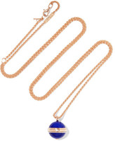 Piaget Possession 18-karat Rose Gold, Lapis Lazuli And Diamond Necklace - one size