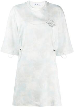 Off-White Meteor Shower tie-dye T-shirt dress