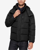 Andrew Marc Men's Quilted Jacket with Removable Hood and Collar