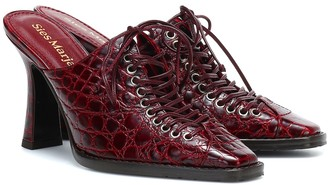 Sies Marjan Stella croc-effect leather mules