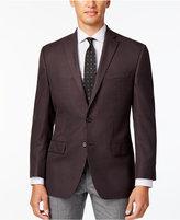 MICHAEL Michael Kors Men's Classic-Fit Burgundy Check Sport Coat