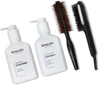 Sebastian Brocchi Brocchi Hot Air Brush, Styling Brush, Amino Acid Shampoo & Cleansing Body Wash Bundle