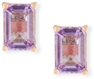 Suzanne Kalan KALAN by 14k Rose de France Amethyst Emerald-Cut Earrings