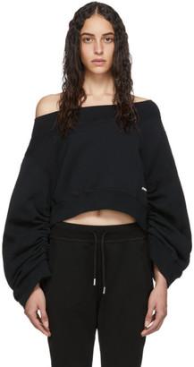 DSQUARED2 Black Ruched Sleeve Sweatshirt