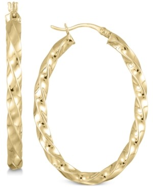 Simone I. Smith Twist Hoop Earrings in 18k Gold over Sterling Silver
