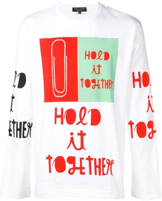 Comme des Garcons printed crew neck sweatshirt