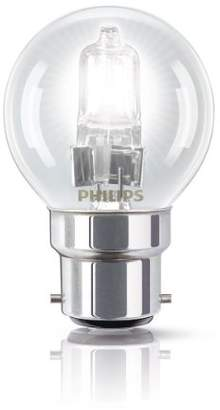 Philips EcoClassic Lustre lamp Halogen lustre bulb - halogen bulbs (Lustre, B22, Clear, C, Warm white, Hg (mercury))