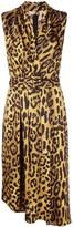 ADAM by Adam Lippes leopard print midi dress
