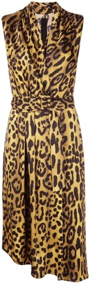 Adam Lippes Leopard Print Midi Dress