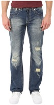 Antique Rivet Mark Straight Jeans in Monte