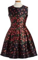 Oscar de la Renta Girl's 'Degrade Pansies' Mikado Party Dress