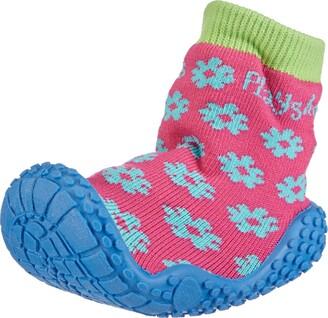 Playshoes GmbH Uv Protection Aqua Socks Flower Unisex-Child Sandals Original Blue 10.5 UK Child