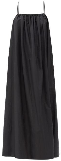 Matteau Low-back Cotton-poplin Maxi Dress - Black