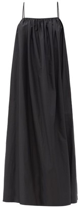 Matteau Low-back Cotton-poplin Maxi Dress - Black