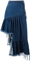 Marques Almeida Marques'almeida asymmetric denim skirt