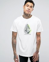 Volcom Minor Bsc T-Shirt In White Paint