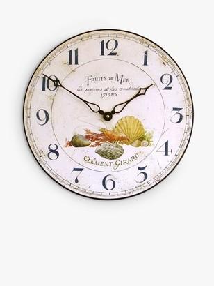 Lascelles Fruits De Mer Wall Clock, 36cm