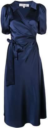 Diane von Furstenberg short-sleeve wrap midi dress