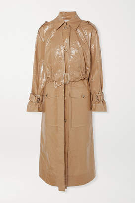REJINA PYO Coated-cotton Trench Coat - Taupe
