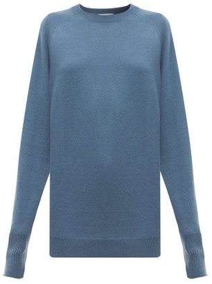 Raey Raglan-sleeve Boyfriend Cashmere Sweater - Blue