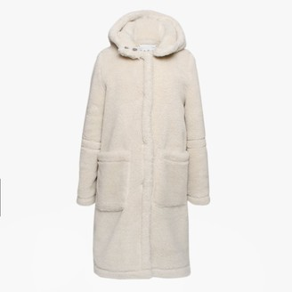 Oakwood Marvellous Cream Wool Longline Hooded Coat