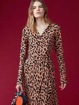 Diane von Furstenberg Long-Sleeve Woven Wrap Dress