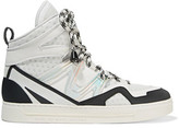 Marc by Marc Jacobs Paneled Leather And Mesh High-Top Sneakers