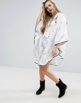 Asos Holographic Unicorn Print Pac Away Trench