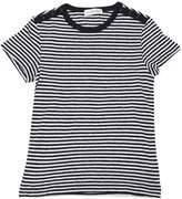 Striped Cotton Jersey & Linen T-Shirt