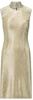 Ariella London Michaela Metallic High Neck Dress