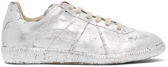 Maison Margiela Silver Painted Replica Sneakers
