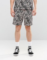 Huf Shorts With Tropical Print