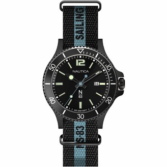 Nautica N83 Men's NAPCBS910 Cocoa Beach Black Silicone Strap Watch