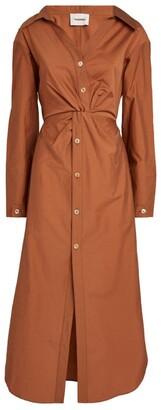 Nanushka Ayse Cotton-Blend Shirt Dress