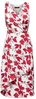 Banana Republic Floral Wrap-Effect Midi Dress