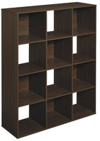 ClosetMaid Cubeicals 12-Cube Organizer Shelf - Espresso