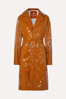 Rains Glossed-pu Trench Coat - Tan