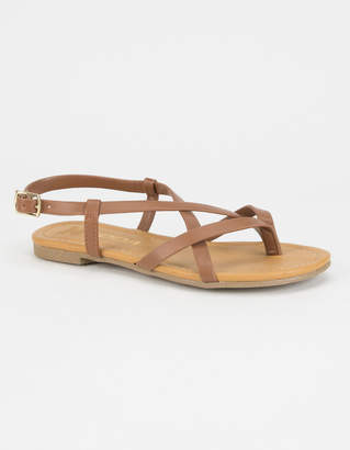 Soda Sunglasses Criss Cross Girls Thong Sandals