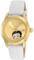 Invicta Women's Character White Leather Band Steel Case Automatic Watch 24495