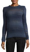 Balmain Ribbed Crochet Sweater