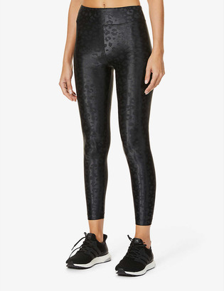 Koral Lustrous leopard-print high-rise stretch-jersey leggings