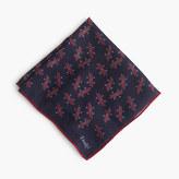 Drakes Drake's® Italian wool-silk pocket square in ski print
