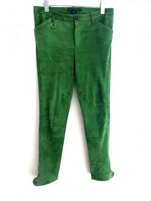 Ralph Lauren Green Suede Trousers