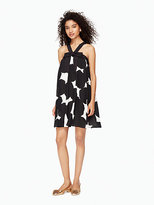 Kate Spade Blot dot silk bow dress