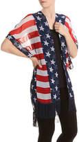 Cejon Women's America Kimono -Red/White/Blue