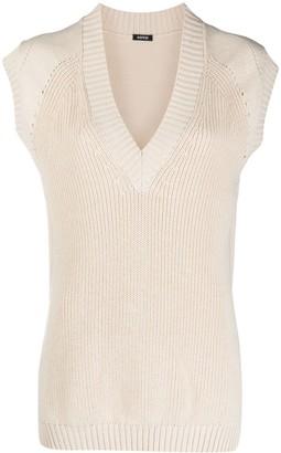 Aspesi Ribbed Knit Sweater Vest