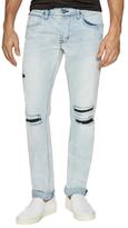 Hudson Blake Slim Straight Distressing Jeans