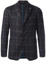 Tagliatore plaid single breasted blazer