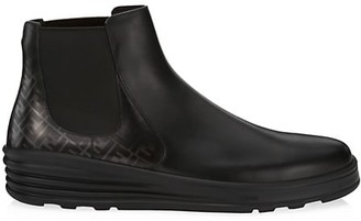 Fendi Leather Chelsea Boots