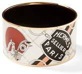 Banana Republic LUXE FINDS | Hermès Gold Enamel Extra-Wide Bangle